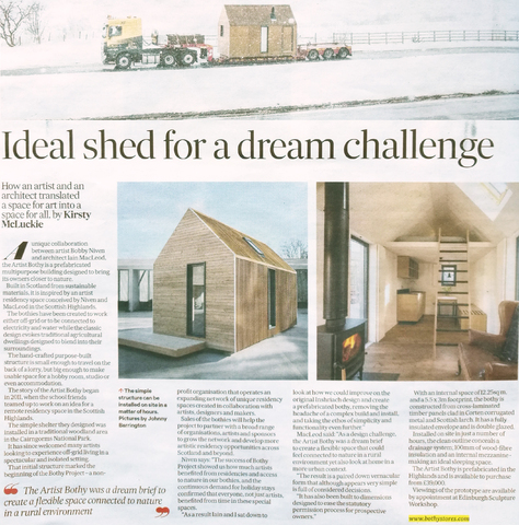 Feature in The Scotsman