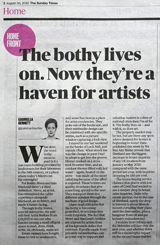 Feature in Sunday Times